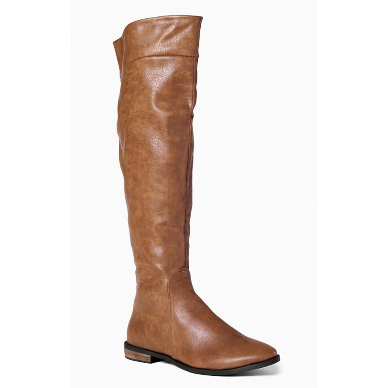 ab72f9b97b5c Hnedé dámske zimné čižmy s nízkym podpätkom - fashionday.eu