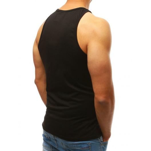 Pánske čierne tričko bez rukávov