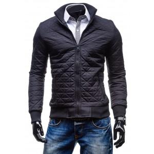 Športová pánska zimná bunda čiernej farby