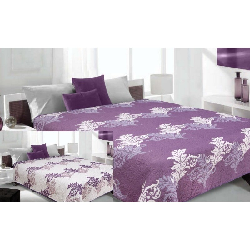 de9329f52 Obojstranný prehoz na posteľ bielo fialový - fashionday.eu
