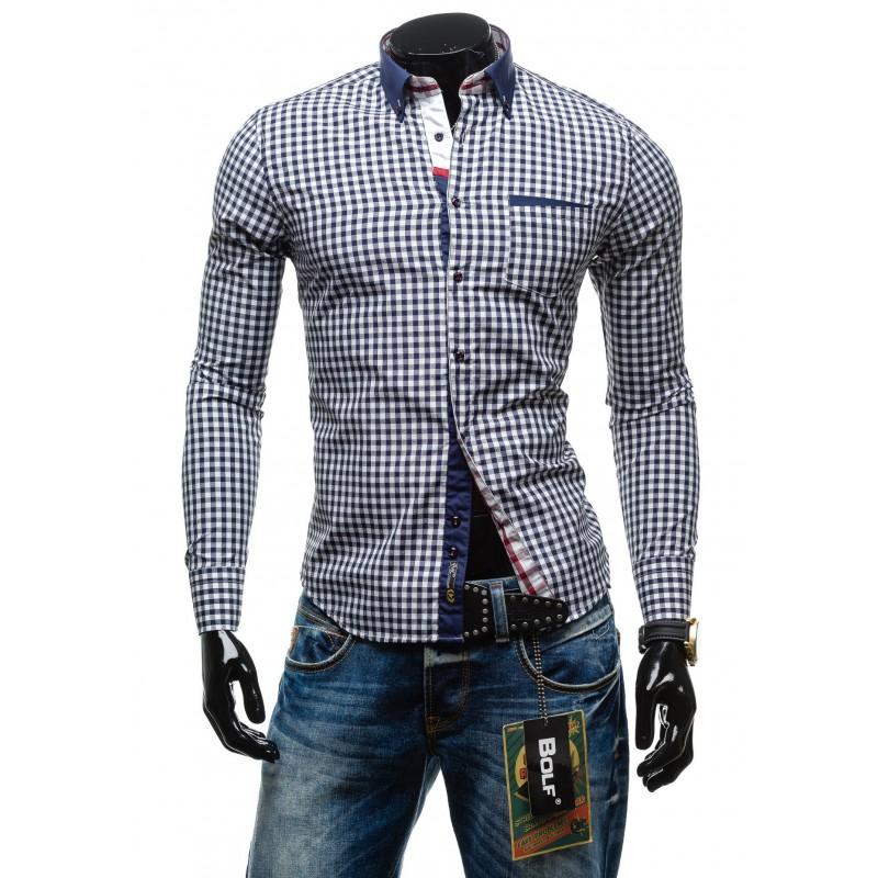 9ea0846939c5 Predchádzajúci. Pánska kockovaná košeľa s dlhým rukávom modrej farby · Pánska  kockovaná košeľa s dlhým rukávom modrej farby · Pánska kockovaná ...