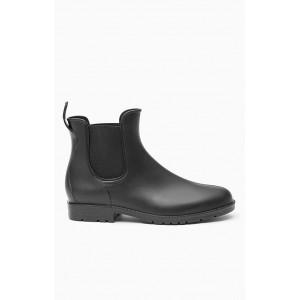 Dámske čierne členkové topánky s gumou