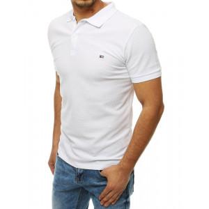 Kvalitné pánske biele polotričko s krátkym rukávom