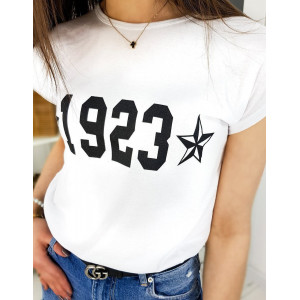 Originálne dámske biele tričko NUMBER