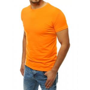 Neónovo oranžové pánske tričko s krátkym rukávom