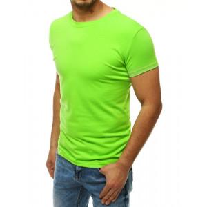 Neónovo zelené pánske tričko s krátkym rukávom