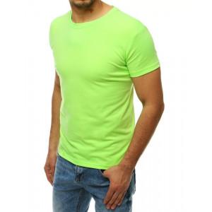 Krásne pastelovo zelené jednofarebné pánske tričko