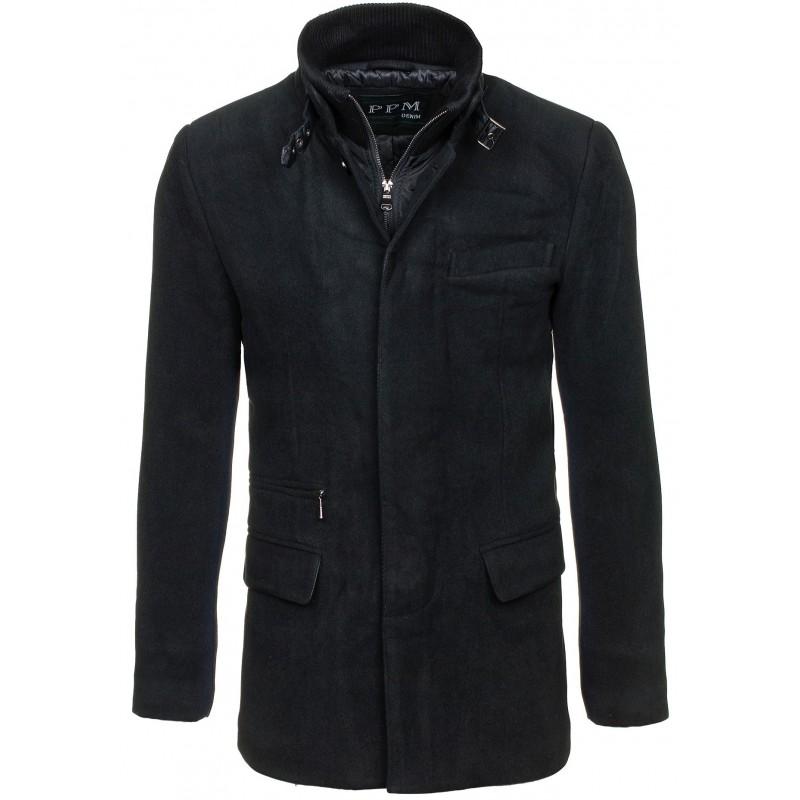 Predchádzajúci. Pánske čierne kabáty bez kapucne ... 65481acb760