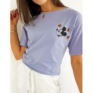 Fialové dámske tričko so zadnou potlačou disney postavičky