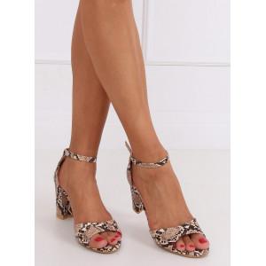 Štýlové dámske sandále s haďou potlačou