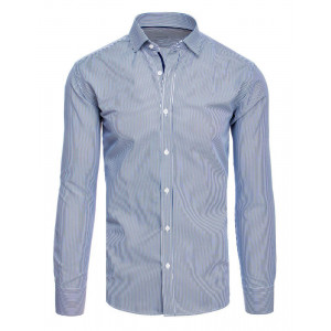 Originál pánska košeľa s bielymi a tmavomodrými pruhmi