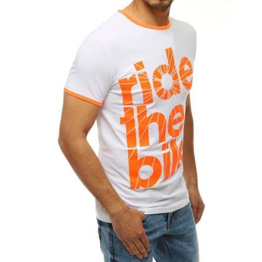 Pánske tričko bielej farby s nápisom