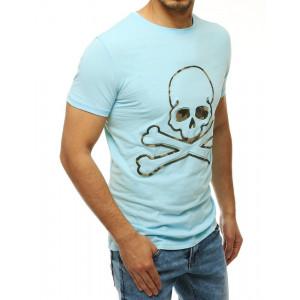 Tyrkysové tričko s potlaćou lebky