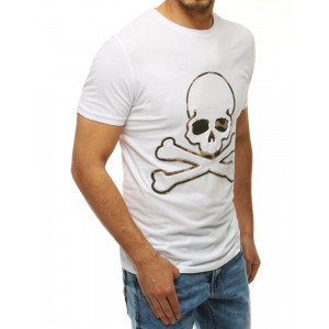 Biele trićko s motívom lebky