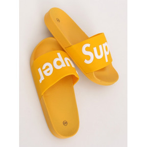Krásne letné dámske žlté gumené šľapky k vode