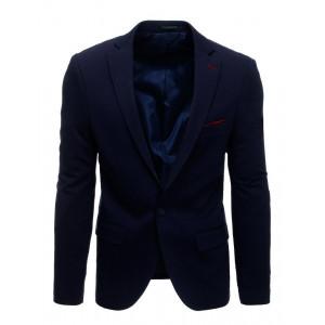 Pánske formálne sako vo farbe navy blue
