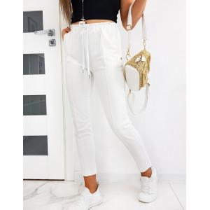 Elegantné dámske biele nohavice MISTIC