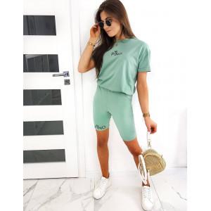 Moderná dámská letná zelená súprava s legínami PINO