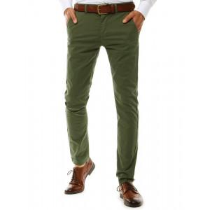 Zelené klasické pánske chino nohavice