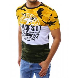 Pánske tričko s krátkym rukávom v army štýle