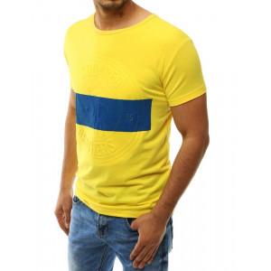 Krátke žlté trićko s potlačou