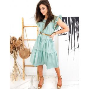 Krásne šaty v tyrkysovej farbe pre dámy