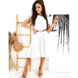 Krásne šaty v bielej farbe pre dámy