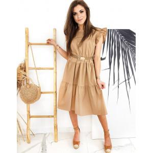 Krásne šaty v karamelovej farbe pre dámy