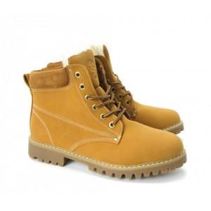 Pánske béžové zimné topánky