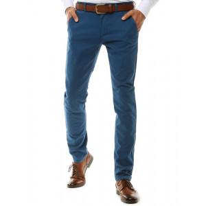 Pánske štýlové modré business chino nohavice
