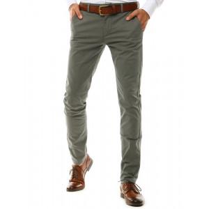 Šedé pánske nohavice štýl chino