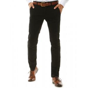 Elegantné pánske čierne chino štýl nohavice