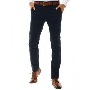 Modré pánske klasické chino nohavice