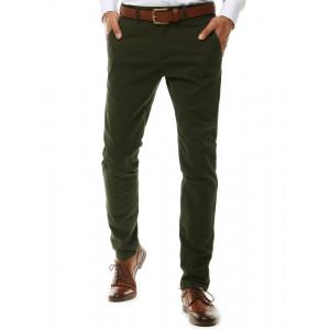 Pánske zelené chino nohavice