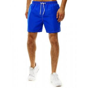Lacné plavky na leto pre pánov v modrej farbe