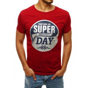 Šedé tričko s metalickou potlačou