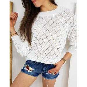 Dámsky sveter s modernou madeirou