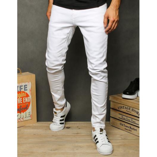 Biele klasické pánske riflové nohavice