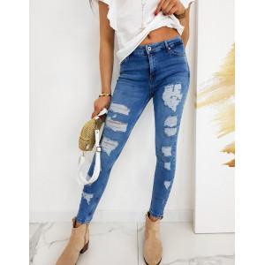 Dámske moderné skinny fit jeansy