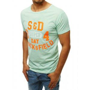 Svetlozelené pánske tričko s nápisom