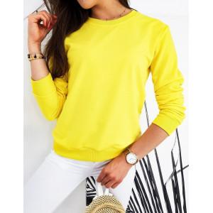 Žltá dámska mikina CARDIO bez kapucne