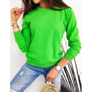 Zelená dámska mikina CARDIO bez kapucne