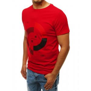 Pánske červené tričko s potlačou