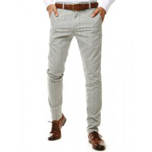 Pánske svetlo sivé elegantné nohavice