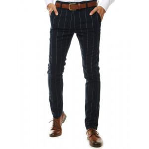 Čierne pánske pruhované chino nohavice