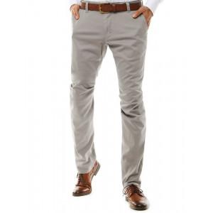 Pánske luxusné nohavice v svetlo sivej farbe