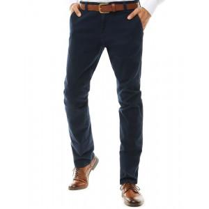Pánske luxusné nohavice v modrej farbe
