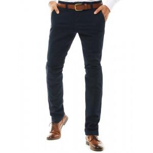 Luxusné tmavomodré nohavice