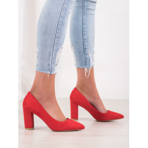 Luxusné červené lodičky na vysokom podpätku