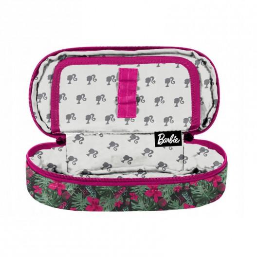 Ružová školská taška s motívom barbie v trojčasťovom sete